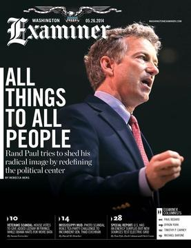Cover image of Washington Examiner magazine for July 29 2013