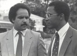 Kurt Schmoke - Schmoke and Curt Anderson in 1982 as they both launch their political careers