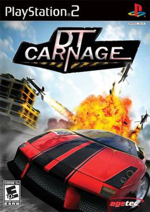 DT Carnage PS2 us front cover