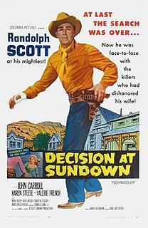 <i>Decision at Sundown</i> 1957 western directed by Budd Boetticher