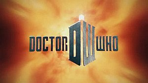 The redesigned Doctor Who title card for serie...