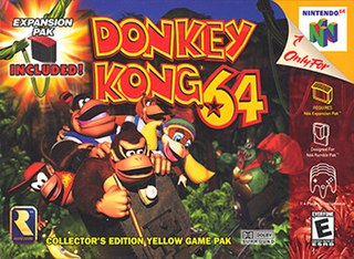 <i>Donkey Kong 64</i> 1999 adventure platform video game for the Nintendo 64