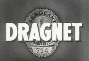 Dragnet (1951 TV series) - Dragnet opening frame from the 1950s version