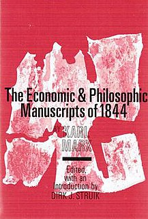 <i>Economic and Philosophic Manuscripts of 1844</i> literary work by Karl Marx