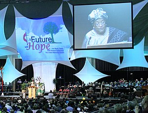 General Conference (United Methodist Church) - Ellen Johnson Sirleaf, President of Liberia, addresses the 2008 General Conference of the United Methodist Church.