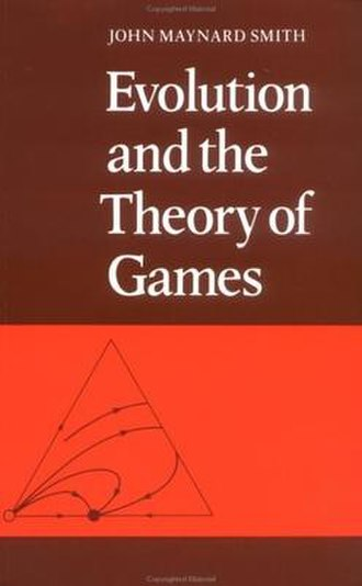 Evolution and the Theory of Games - Cover of Evolution and the Theory of Games, with an exemplary ternary plot of frequency changes of three different strategies.