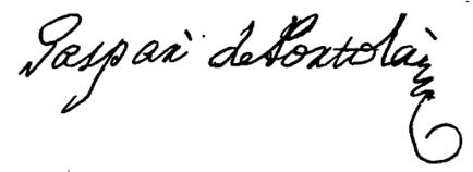 Gaspar de Portolá's signature