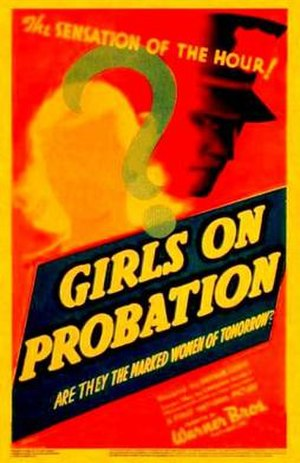 Girls on Probation - Theatrical release poster