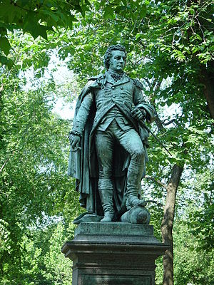 Battle of Pell's Point - Statue of Glover on Commonwealth Avenue, Boston