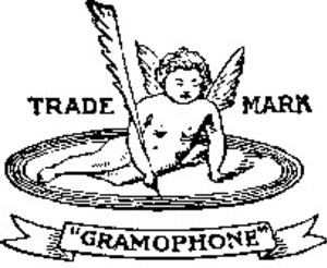 Angel Records - The Recording Angel as it appeared on early Gramophone discs
