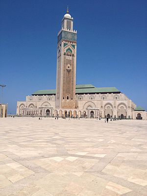 Religion in Morocco - The Hassan II Mosque in Casablanca is the largest in Morocco.