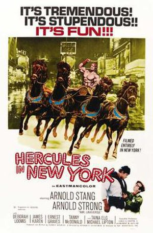 Hercules in New York - Theatrical release poster