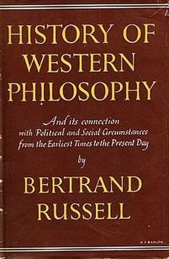 A History of Western Philosophy - Cover of the first edition