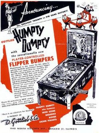 Humpty Dumpty (pinball) - Image: Humpty Dumptypinballflyer