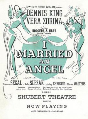 I Married an Angel - Original 1938 Poster