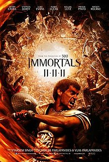 Immortals poster.jpg Immortals 2011 film Wikipedia the free encyclopedia 220x326 Movie-index.com
