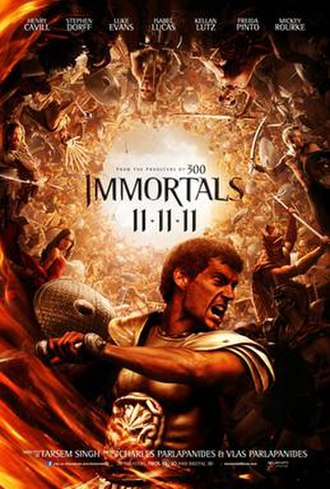 Immortals (2011 film) - Theatrical release poster