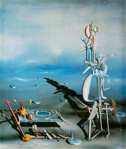 Yves Tanguy Indefinite Divisibility 1942, Albright Knox Art Gallery, Buffalo, New York - Surrealism