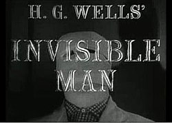 Alt=The series titles superimposed over a picture of the bandaged head of the invisible man