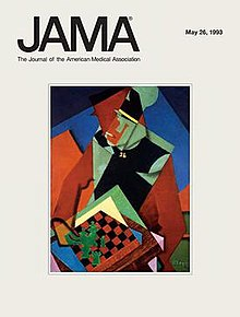 JAMA, The Journal of the American Medical Association, May 26, 1993, cover, Jean Metzinger, Soldier at a Game of Chess.jpg