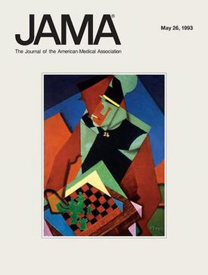 JAMA (journal) - Image: JAMA, The Journal of the American Medical Association, May 26, 1993, cover, Jean Metzinger, Soldier at a Game of Chess