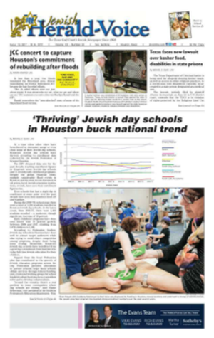 Jewish Herald-Voice - Image: JHV Front Page