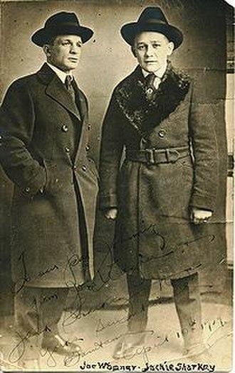 Jackie Sharkey - Sharkey on right in 1909