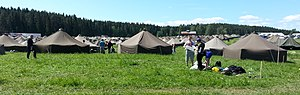 Jukola relay - Image: Jukola Village 2014