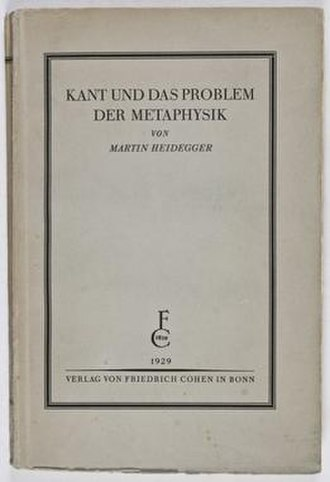 Kant and the Problem of Metaphysics - First edition cover