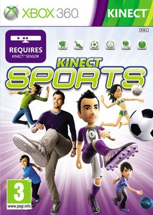 Kinect Sports - European boxart for the Xbox 360