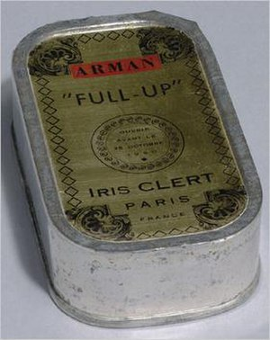 Iris Clert Gallery - Promotional sardine can mailed to promote Le Plein exhibition
