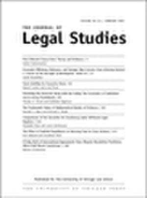 The Journal of Legal Studies - Image: Legalstudiescover