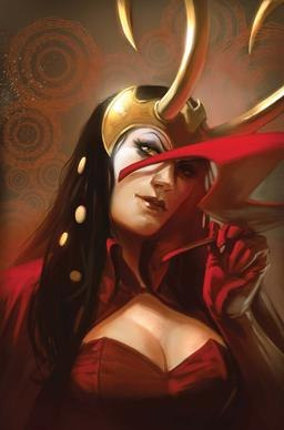 Loki as the Scarlet Witch