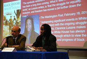Clarence Lusane - Lusane on a panel at American University