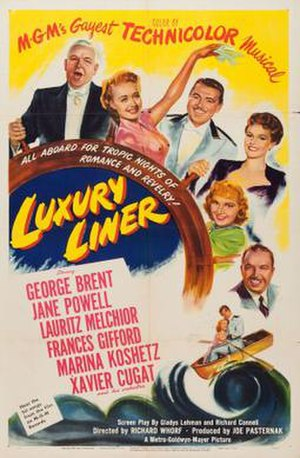 Luxury Liner (1948 film) - Thetarical release poster