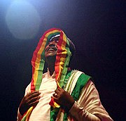 Mahmoud Ahmed, an Ethiopian singer of Gurage ancestry, in 2005.