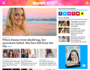 Mamamia (website) - Image: Mamamia screenshot