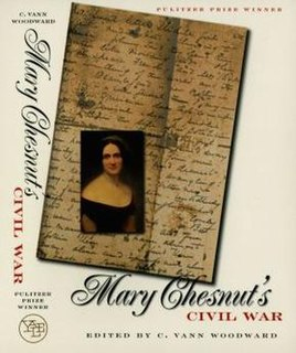 <i>Mary Chesnuts Civil War</i> book by Mary Boykin Chesnut