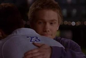 "Nathan Scott - Nathan says goodbye to Lucas acknowledging him as his brother for the first time. He says: ""I actually wish you weren't gonna leave, because you're one hell of a basketball player and because you're my brother""."