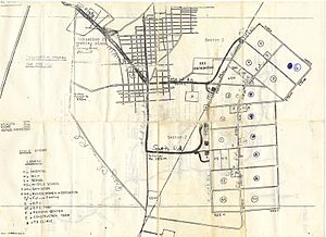 Nong Samet Refugee Camp - Map of Nong Samet Refugee Camp and the neighboring village of Ban Nong Samet, distributed to aid workers by the American Refugee Committee in 1984.