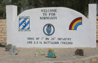 30th Infantry Regiment (United States) - Welcome sign to the fort of the 30th Infantry