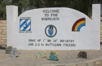 Normandy Entrance Sign