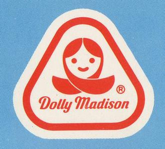 Dolly Madison - Original Dolly Madison logo, used from 1969-mid 1980s.