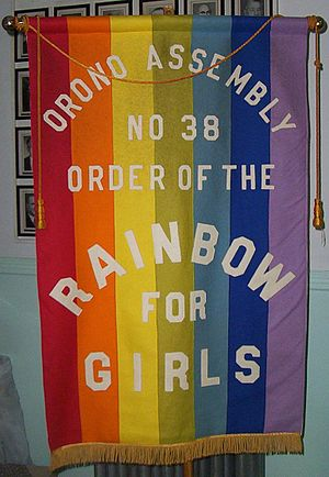 International Order of the Rainbow for Girls - Typical Assembly banner