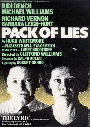 Lona Cohen - Poster for original West End production of Pack of Lies (1983)