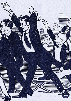Jacob Panken - Jacob Panken on the floor of the 1919 Socialist Party Convention, as drawn by Art Young for The Liberator.