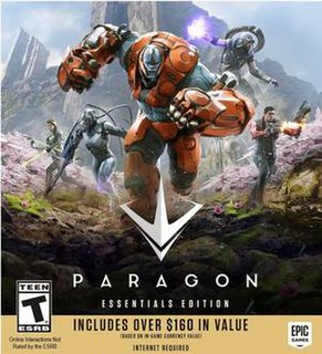 <i>Paragon</i> (video game) free-to-play moba developed by Epic Games