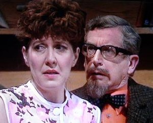 """Rosemary Martin - Rosemary Martin (with Blake Butler as Mr. Wainwright) as Mrs. Partridge in the episode, """"Short Back and Palais Glide"""", on Last of the Summer Wine"""