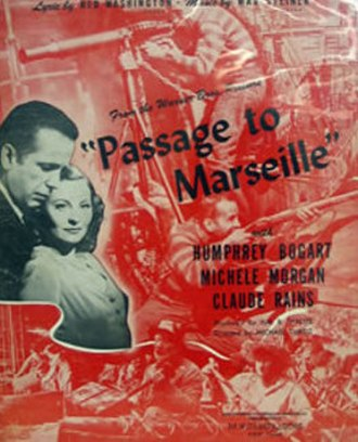Passage to Marseille - theatrical release poster