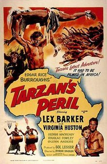 Afiŝo - la Danĝero de Tarzan 01.jpg